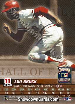 MLB Showdown 2004 Trading Deadline #118 Lou Brock of the St. Louis