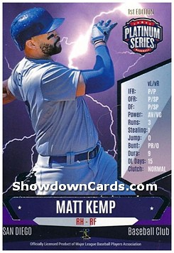 Matt Kemp Platinum Series Baseball