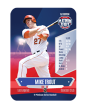 Platinum Series Baseball Mike Trout