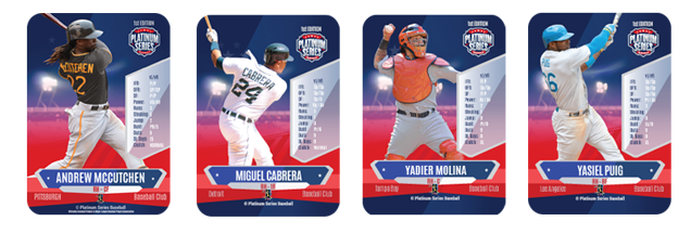 Platinum Series Baseball Player Cards